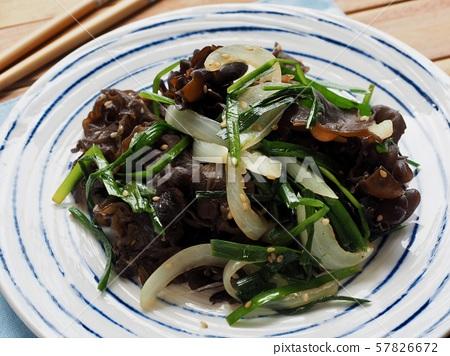아시아 음식 목이버섯 채소볶음  57826672