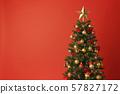 聖誕樹聖誕節顏色紅色 57827172
