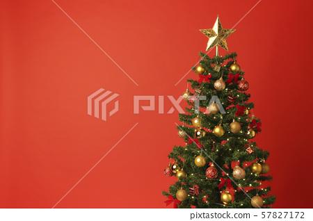 크리스마스 트리 크리스마스 색상 레드 57827172