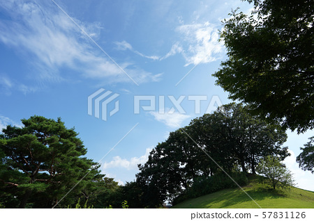 맑은 하늘과 구름 57831126