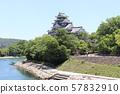 푸른 하늘과 오카야마 성 오카야마 현 오카야마시 57832910