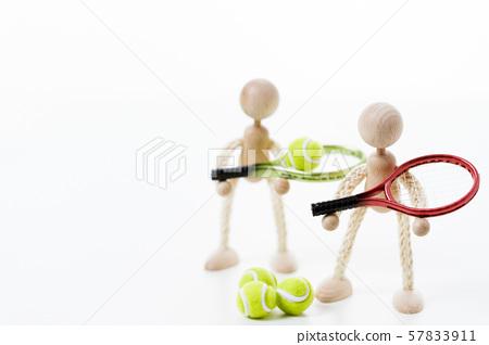網球花園球網球球拍 57833911