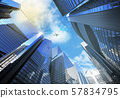 panorama cityscape modern high-rise buildings 57834795