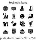 Probiotics bacteria icon set vector illustration 57865250