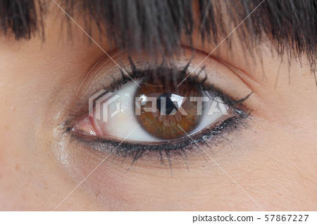 brown young woman eye, close-up 57867227