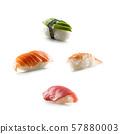 Set of Sushi nigiri isolated on white background 57880003