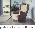 armchair on wooden floor 57888767