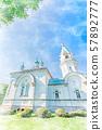홋카이도의 여름 풍경 하코다테 하리스 토스 정교회 57892777