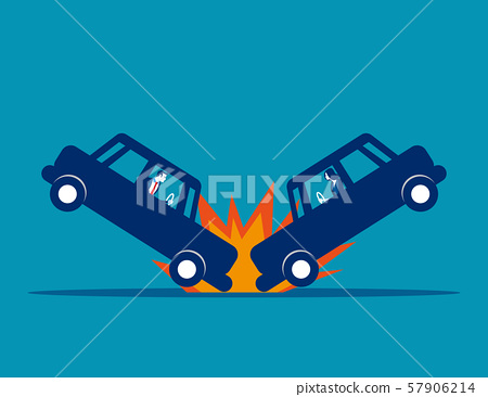 Car accident. Concept business vector, Broken, 57906214