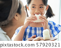Parent and child mother daughter meal 57920321