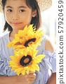 女孩兒童肖像 57920459