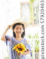 女孩兒童肖像 57920463