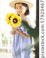 女孩兒童肖像 57920467