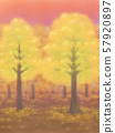 Autumnal trees, yellow, sunset, or sunrise 57920897