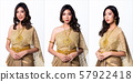 Golden Dress of Thai Traditional Costume woman 57922418