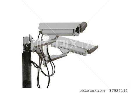 control camera in white background 57925112