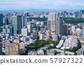 일본 도쿄 도시 경관 태풍 일과 (태풍 15 호)에서 맑은 하늘이 퍼지기 시작한 도심 (안쪽에 흐르는 구름) = 9 일 촬영 57927322
