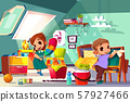Kids cleaning in their room cartoon 57927466