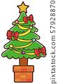 일러스트 소재 : 크리스마스 트리 크리스마스 57928870