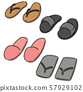 vector set of slippers 57929102