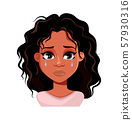 Emotion of African American woman, crying 57930316