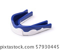 Blue silicone sport mouth guard 57930445