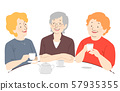 Senior Woman Coffee Illustration 57935355