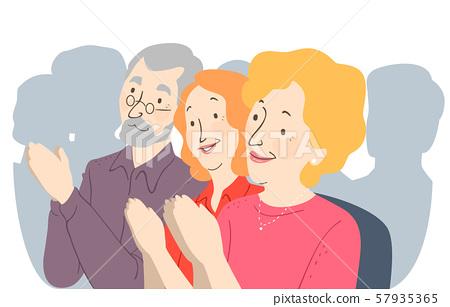 Seniors Citizen Convention Illustration 57935365