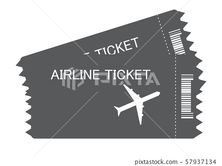 flight ticket icon on white background. flat style. plane ticket icon for your web site design, logo, app, UI. aircraft ticket symbol. tickets sign.  57937134