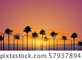 landscape of the beach in sunset 57937894