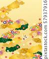 일본식 디자인 배경 소재뿐 -1 테크 57937916
