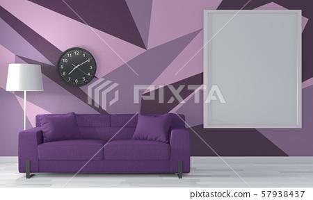 Ideas Of Purple Room Geometric Wall Art Paint Stock Illustration 57938437 Pixta