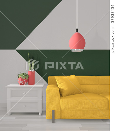 Ideas of green room Geometric Wall Art Paint 57938454