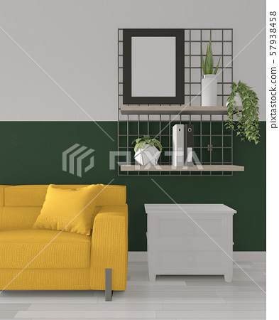 Ideas Of Green Room Geometric Wall Art Paint Stock Illustration 57938458 Pixta
