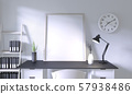 Mock up top table office with decoration on room 57938486
