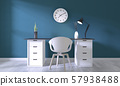 Mock up poster office with white comfortable 57938488