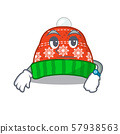 Waiting winter hat put in cartoon cupboard 57938563