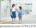 초등학생 소녀 학교 학교 생활 이미지 57941379