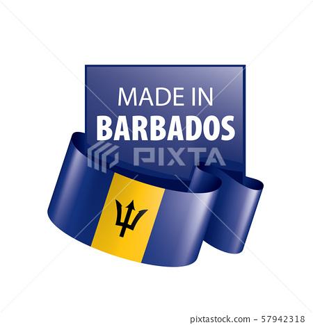 Barbados flag, vector illustration on a white background. 57942318