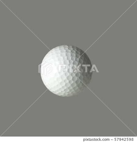 흰색 배경에 골프 공 57942598