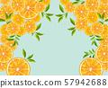 오렌지 : Orange 오렌지 과일 수채화 필기 번짐 식물 과일 주스 57942688