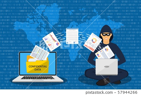 Data phishing, hacker attack. 57944266