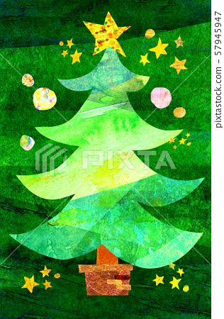 크리스마스 손으로 그린 일러스트 57945947