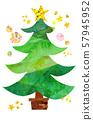 크리스마스 손으로 그린 일러스트 57945952