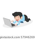 businessman working on laptop computer 57946269