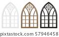 Gothic window of wood set 57946458