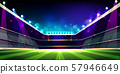 Empty soccer field before game cartoon 57946649