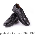 The Pair of male classic leather shoes isolated on 57948197