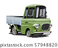 Cartoon retro delivery or cargo truck isolated 57948820
