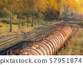 Set of train tanks with fuel and oil 57951874